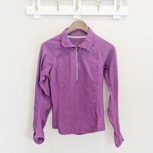 Nike Dri Fit Purple Quarter Zip Pullover Small